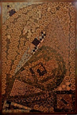Francisco Herrero Peñuela, incrustaciones, 130 x 190 cm. 2013