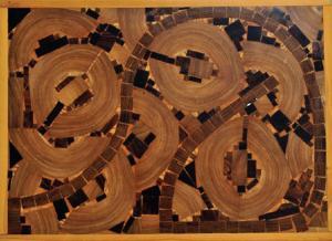 Herrero Peñuela, Incrustaciones en madera, 63 x 46 cm. 2013