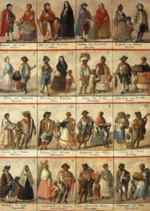 Pintura de Castas, catálogo de mezclas y jerarquías raciales , siglo XVIII