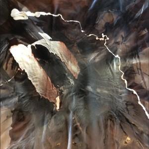 Aimee Joaristi, Alarido, técnica mixta sobre lienzo, 150 x 150 cm. 2015.