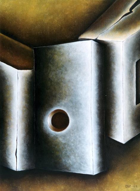 Composición 10, mixta sobre lienzo, 107 x 84 cm.  2004.