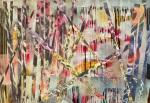 "Aimee Joaristi, La feria del laberinto"" técnica mixta sobre lienzo, 110 x 77 cm.  2013."