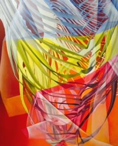 Brana III, Mariu F. Lacayo, óleo sobre lienzo, 1.20 cm. x 1.20 cm. 2015.