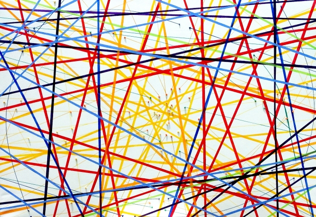 QUIPU UNIVERSAL, Mariu F. Lacayo, técnica mixta 1.30 x 2.00 m. 2015