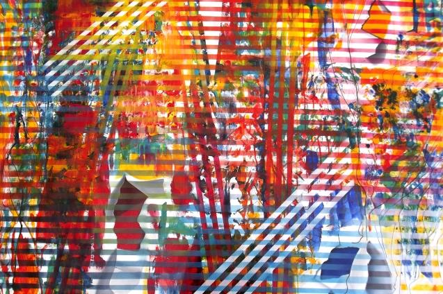 Supercuerdas IV, óleo sobre lienzo, 1.45 x1.15 cm. 2015.