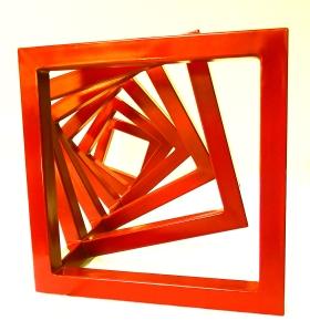 Ilse Ortiz de Manzanares, Orange Unfolded Tesseract, 2016