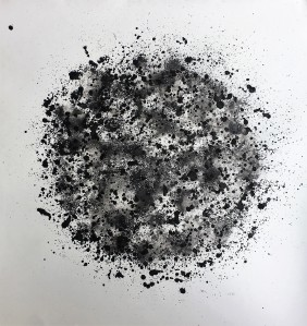 Alessandra Sequeira, , Corona Solar, tinta acrílica sobre papel Stratford, 167 x 167 cm. 2017
