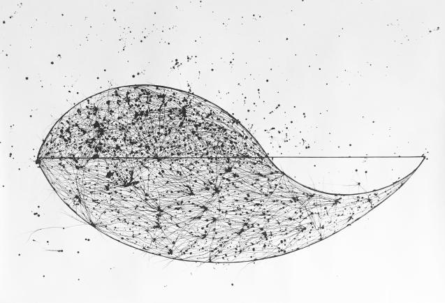 Alessandra Sequeira, Harmonic Dinergy, acrylic onk on paper, 138 x 217 cm. 2017