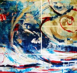 Blanca Fontanarrosa, Noosphere 1, acrylic on canvas, 216 x 202 cm. 2016.