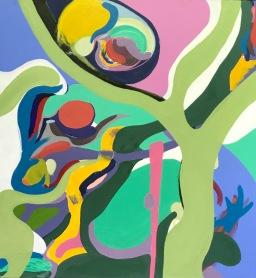 Javier Marten, CATARATA, acrílico sobre lienzo, 76 x 76 cm. 2011