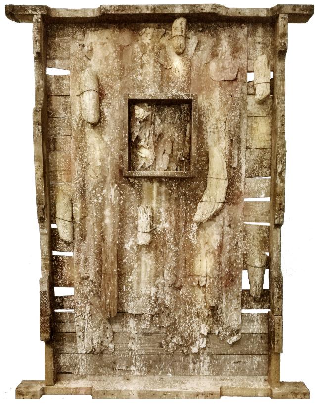 ARTURO VALENCIA, SEDIMENTO SECCIONADO, TÉCNICA MIXTA, 160 X 121 CM